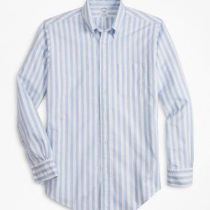 Brooks Brothers Blue and White Striped Button Down